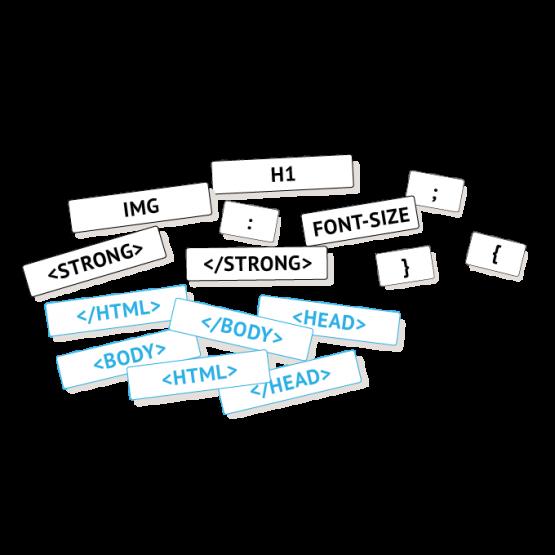 HTML en CSS magneten Code Qube